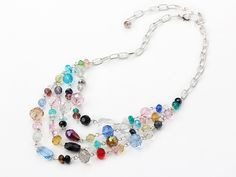 multi strand colorful crystal necklace with extendable chain: http://www.aypearl.com/wholesale-crystal-jewelry/wholesale-jewellery-X1836.html