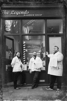 The Legends Barber Shop, London, Holborn...dude on the right has the right attitude...hahaha