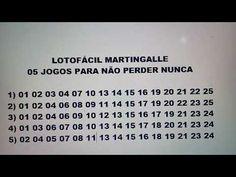 LOTOFACIL - 05 APOSTAS PARA NÃO PERDER NUNCA. - YouTube Resultado Loteria, Up King, Religion, Lottery Numbers, How To Get Money, Ramadan, Digital Marketing, Finance, Faith