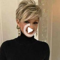 Age is just a number and regardless of how old you are doesn't mean you can't wear a… #simplehairstyles Stacked Haircuts, Cute Hairstyles For Medium Hair, Short Layered Haircuts, Haircuts For Fine Hair, Cute Hairstyles For Short Hair, Quick Hairstyles, Girl Hairstyles, Very Short Hair, Short Hair Styles Easy