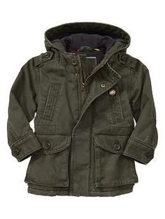 Cayman will look like such a stud this winter!! Twill pocket jacket | Gap