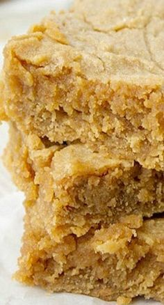 Peanut butter blondies, I added white chocolate chips. Done in 20./bp