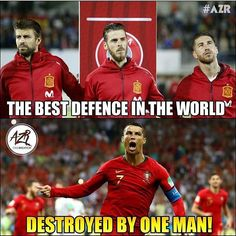 He only scores against small teams they said. How mistaken they. Funny Football Memes, Football Quotes, Football Is Life, Sports Memes, Football Talk, Cristiano Ronaldo Memes, Messi Vs Ronaldo, Ronaldo Goals, Ronaldo Quotes