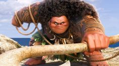 It\'s Maui time. Pretty cool to see a cartoon based on a hero I grew up hearing about.