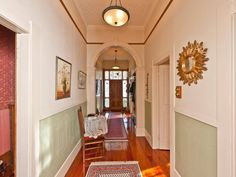 Villa, Wanganui, New Zealand..long central hallway is traditional.