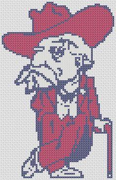 Ole Miss Mascot Cross Stitch Pattern ONLY by OddDuckStudios