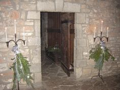 Christmas decorations in the French castle at Old Fort Niagara, Youngstown, NY