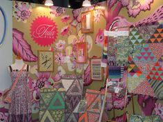 Tula Pink's booth at International Quilt Market 2015
