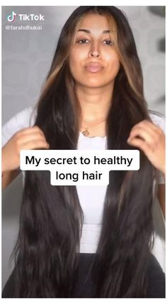 Hair Tips Video, Long Hair Tips, Long Hair Video, Hair Care Tips, How To Long Hair, Long Hair Fast, Girls With Long Hair, Long Hair Growing Tips, Thick Long Hair
