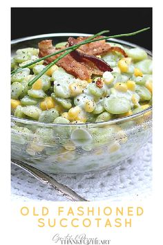 Succotash, an Old Fashioned Vegetable Side Dish
