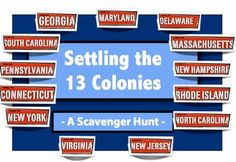 ***THERE IS STILL TIME TO SAVE ** SUPER SALE ENDS TODAY ** Settling the 13 Colonies - A Scavenger Hunt!