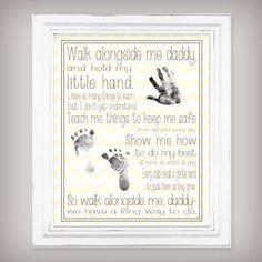 Walk Alongside Me Daddy 11x14 Art Print Personalize with