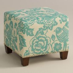 One of my favorite discoveries at WorldMarket.com: Robin Canary McKenzie Upholstered Ottoman