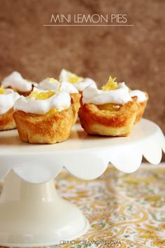 Mini Lemon Pies – super easy and fun Spring dessert with a flaky crust! You are going to love these mini pies!