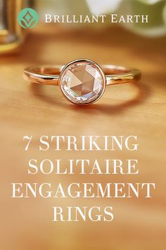 Although all solitaire ring designs feature a similar theme—a band of precious metal showcasing a single center gemstone—there are many unique designs to choose from. From vintage inspired to contemporary, our collection of solitaire engagement rings features an array of stunning choices. Learn about 7 of our favorite distinctive solitaire settings, guaranteed to stand out from the crowd!