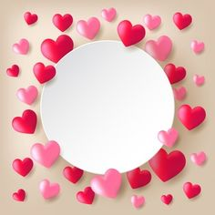 Red And Pink Heart Border מסגרות Heart Border Page Borders