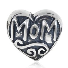 Amazon.com: Charmstar Mom Love Heart Charm Authentic Sterling Silver Bead Fits European Style Bracelet Jewelry: Sports & Outdoors