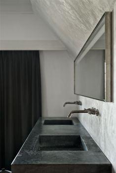 Badkamer - zwarte Wastafel