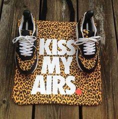 Nike airs. Leopard.