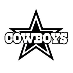NFL Cowboys Die Cut Vinyl Decal PV1350