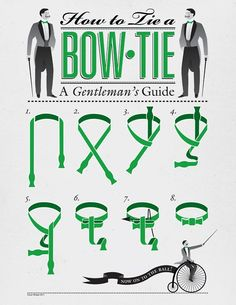 How to Tie a Bow Tie  An illustration for the 2011 Trinity Ball Magazine byConor Whelan