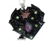 "Pendant ""Black heart"" from the collection ""Black Vintage"" in Vintage, Simpang, Gothic styles"