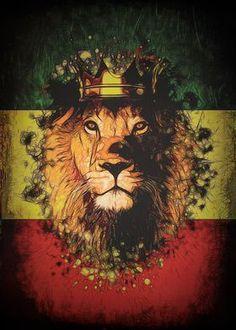 'King Rasta Lion' Poster Print by JP Voodoo | Displate