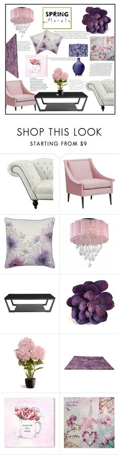 """""""Spring Florals Contest"""" by maddog3861 ❤ liked on Polyvore featuring M&Co, Warehouse of Tiffany, National Tree Company and Oliver Gal Artist Co."""