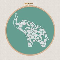Modern cross stitch pattern Elephant ✽ ✽ ✽ You can always find and download them here: You> Purchases and reviews ✽ PATTERN DETAILS ✽ PDF Pattern Grid Size: 96 X 90 Stitches Fabric: Aida 14, Any fabric you like Floss: DMC (1 colors) Size: 17,42 x 16,33 cm / 8.29 x 6.50 inch (14