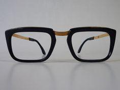 Gimmie.Gimmie.Gimmie.    1960s Vintage Eyeglasses Manager 12kt Goldf Black | eBay