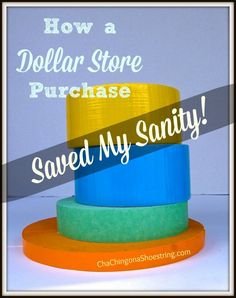 How a Dollar Store purchase saved my sanity.  Love it.  I am totally buying some of this next time I'm at the Dollar Store!