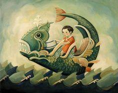 Une impression de transport Sea Monster 10 x 8 par theblackapple