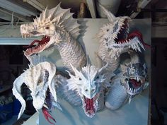 Paper Mache Tiamat - assembly complete                              … …