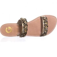 G by Guess Tunez Double Strap Flat Sandals, Gold Gold Sandals, Flat Sandals, Flats, Spring Step, Trending Fashion, Spring Trends, Spring Outfits, Spring Fashion, Slip On