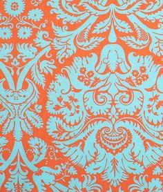Amy Butler Acanthus Duck Egg Fabric - $8.95 | onlinefabricstore.net