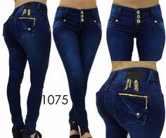Original Levanta Cola Divas push up  1075 blue 9'' rise skinny jeans-3-15 #Divasjeans #SlimSkinny