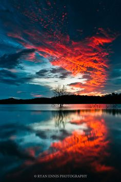 Red Clouds Reflected