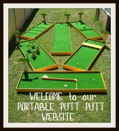 homemade mini golf ideas | Great for all ages. Fun and entertaining for kids and adults!