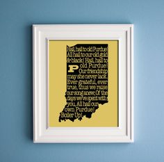 Purdue  Fight Song Print by KenmoreHouse on Etsy