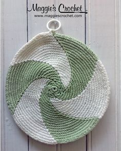 Maggie's personal Vintage Potholder Collection. Shop for Maggie's Crochet vintage patterns  http://www.maggiescrochet.com/search?q=vintage+potholder #vintage #potholder #crochet #swirl