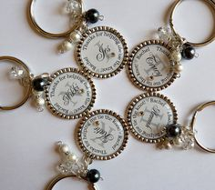 Bridesmaid gift 5 keychains Thanks for helping me tie by TrendyTz, $80.99
