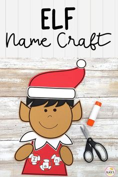 Are you looking for December themed lessons, ideas, crafts or activities? This elf cut and paste elf craft is best suited for students in Preschool, Kindergarten, First and Second grades. The craft template comes with peppermints for name practice plus writing paper in which students can write about different topics such as his/her day as an elf, etc. Preschool Christmas Activities, Teaching Kindergarten, Preschool Classroom, Preschool Kindergarten, Preschool Activities, Speech Therapy Activities, Writing Activities, Teaching Resources, Christmas Speech Therapy