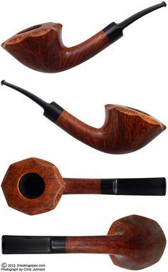 Danish Estate: W. O. Larsen Handmade Straight Grain Smooth Bent Dublin (1) (9mm) (Unsmoked) (Replacement Stem)