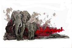The Elephant's Child, who was 'satiably curious. South Africa, Moose Art, Elephant, Children, Painting, Animals, Young Children, Boys, Animales