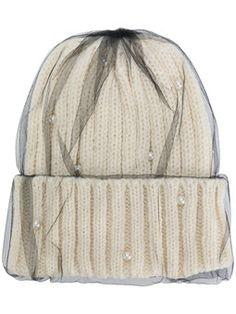 двухслойная вязаная шапка