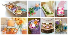 Deco spring to make oneself to make the beautiful days come definitely! 20 Photos The good ideas of spring decor that can be made with his own two hands are probably uncountable. Floral arrangements in home-decorated vases, DIY garl. Handmade Ornaments, Diy Christmas Ornaments, Christmas Decorations, Holiday Decorating, Decorated Flower Pots, Vases Decor, Candle Decorations, Asian Home Decor, Painted Vases