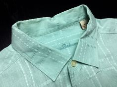 TOMMY BAHAMA Men's XL Aqua Green Embroidered Plaid 100% Linen Long Sleeve Casual Shirt #TommyBahama |Men's Fashion & Style | Shop Menswear, Men's Clothes, Men's Apparel & Accessories at designerclothingf... | Find Sport Coats, Blazers, Suits, Shirts, Polos, Pants/Trousers and More...