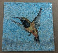 background shading & lines Stone Mosaic, Mosaic Glass, Glass Art, Stained Glass, Mosaic Diy, Mosaic Crafts, Mosaic Ideas, Mosaic Animals, Mosaic Birds
