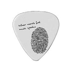 When Words Fail Music Speaks -Custom Guitar Pick For Music Lover With Quotes - Personalized Unique Plectrum - Gift For Guitar Lovers - Boy Friend Present