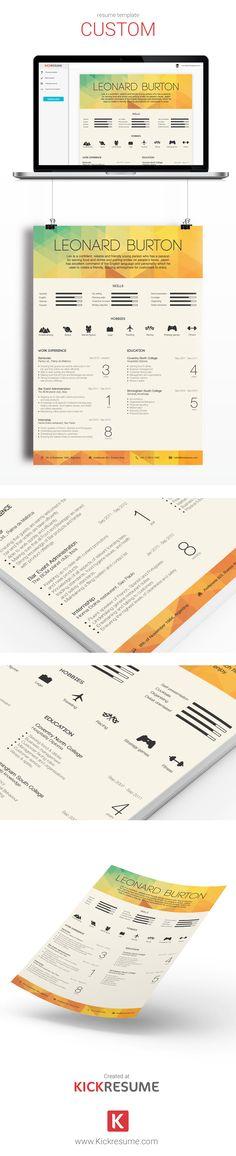 Create original resume in minutes. ---> www.kickresume.com